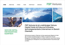 FSP Ventures - Venture Capital für innovatives Cleantech